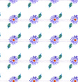 Watercolor violet daisy vector image
