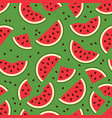 watermelon seamless background pattern vector image vector image