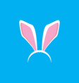 white easter bunny funky mask with rabbit ears vector image