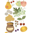 Wholesome food Summer vector image