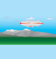 zeppelin in the sky vector image