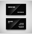 Black business card template vector image