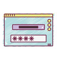 window web technology element design vector image