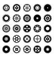 Gear wheel icons set 1 vector image