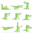 Isolated crocodile cartoon flat style vector image
