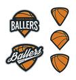 Set of basketball team emblem backgrounds vector image