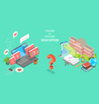 3d isometric flat concept online vector image vector image