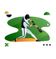 a baseball player hitting vector image