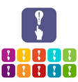 a finger pointer and light bulb icons set vector image vector image