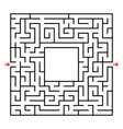 abstract square maze developmental game for vector image vector image