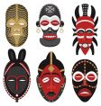 african masks vector image