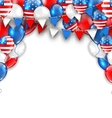 American Traditional Celebration Background for vector image vector image