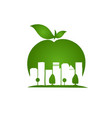 apple city negative space style vector image vector image