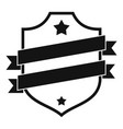 badge business icon simple black style vector image