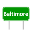 Baltimore green road sign vector image vector image