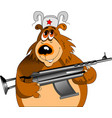 bear with a machine gun