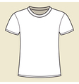 Blank white t-shirt template vector image vector image