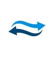 blue wave arrow logo template design eps 10 vector image vector image
