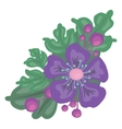 bright color flower with leaves vector image vector image