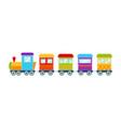 bright toy train vector image vector image