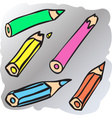Broken pencils vector image