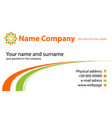 business card template with logo concept vector image