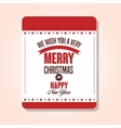 card merry christmas and happy new year design vector image