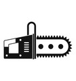 chainsaw icon simple vector image