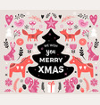 christmas banner design hand drawn vector image vector image