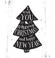 Christmas card with hand drawn lettering vector image vector image