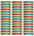 christmas ribbon pattern vector image vector image