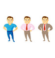 city style men set cartoon character vector image