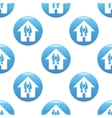 Couple in house sign pattern vector image vector image