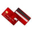 Credit Card red two sides vector image vector image