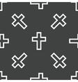 Cross pattern vector image vector image