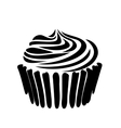 Cupcake icon simple style vector image