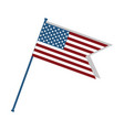 cute flag of usa to celebrate patriotism vector image vector image