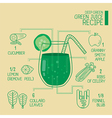 Deep green green juice recipes great detoxify vector image