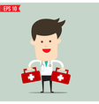 Doctor carry suitecase for emergency service vector image vector image