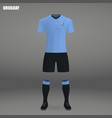 football kit of uruguay 2018 vector image
