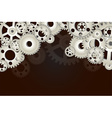 Gear wheels background vector image vector image