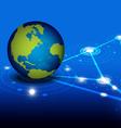 global network design vector image vector image
