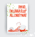 hand drawn christmas gift and invitation card with vector image vector image