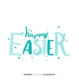 Happy Easter lettering write with brush pen vector image vector image