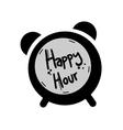 happy hour symbol vector image vector image