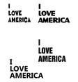 i love america vector image