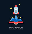 imagination space exploration vector image vector image
