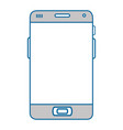 isolated smart cellphone vector image vector image