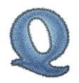 Jeans alphabet Denim letter Q