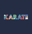 karate concept word art vector image